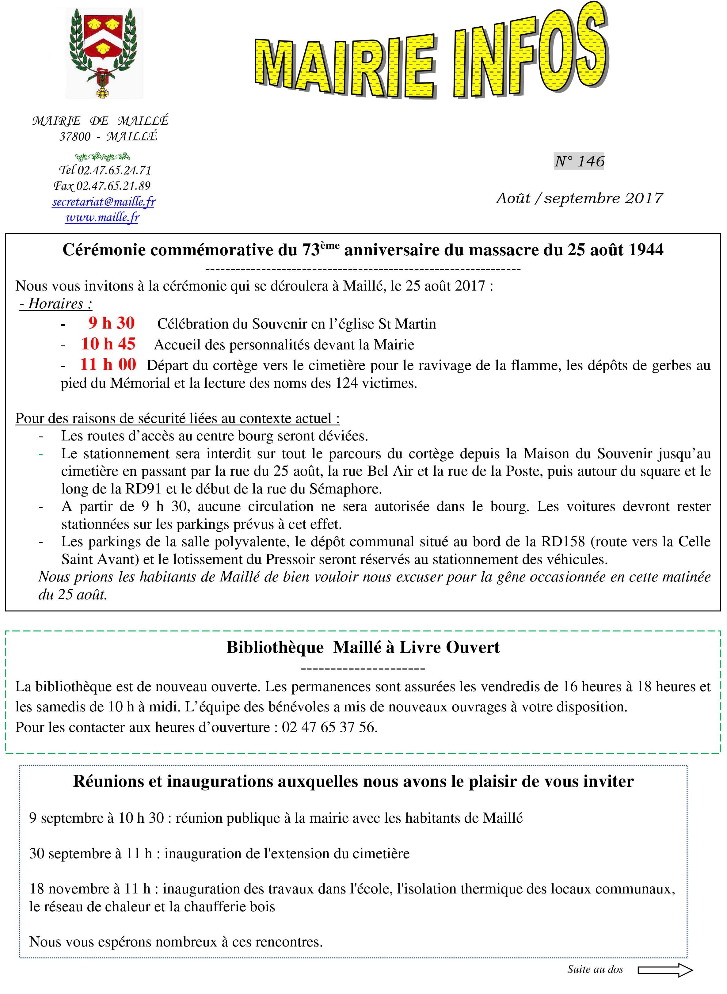 mairie infos août sept 2017